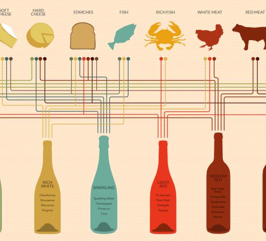 Schema abbinamento cibo-vino Sommelier - Gnamm Personal Chef